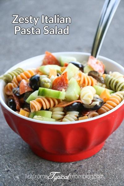 Easy Zesty Italian Pasta Salad Recipe