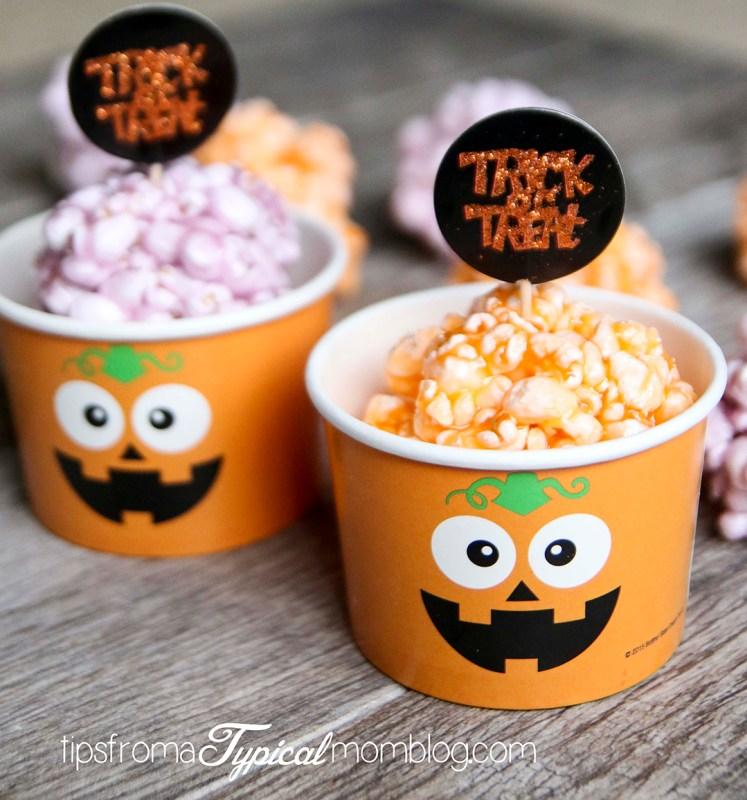 Jello Popcorn Balls AKA Pumpkin Brains