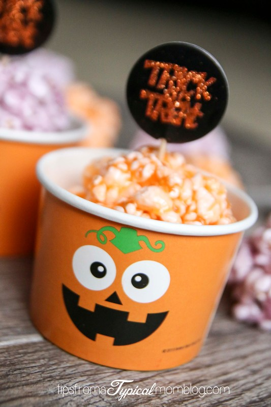 Halloween Jello Popcorn Balls