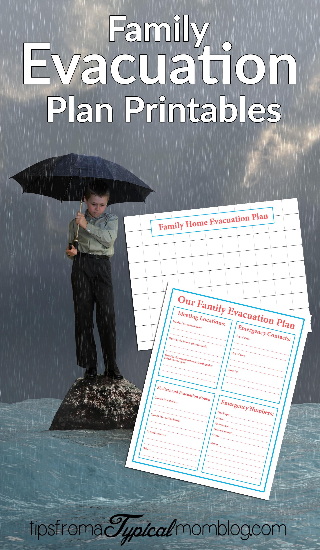 Family Emergency Evacuation Printables Free Preparedness Printable Bundle