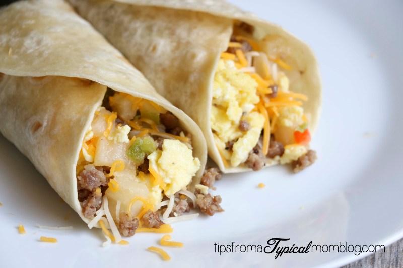 Easy One Pan Breakfast Burritos