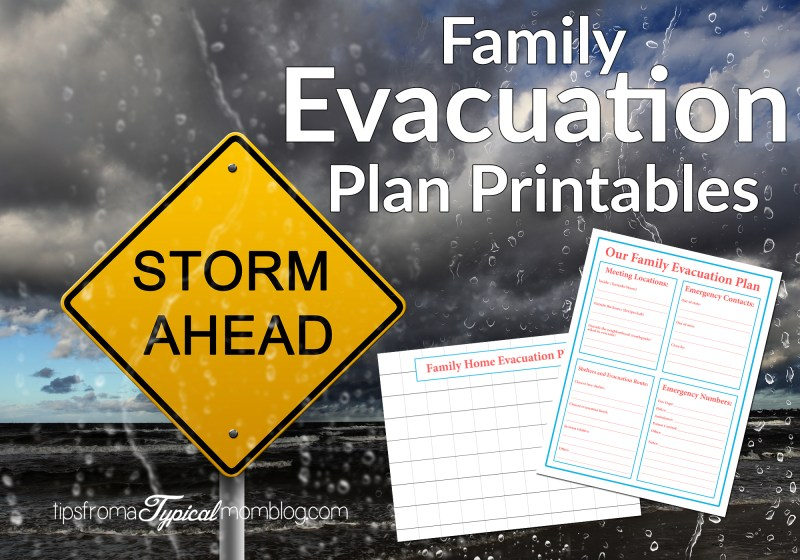 Storm Ahead Family Evacuation Plan Printables
