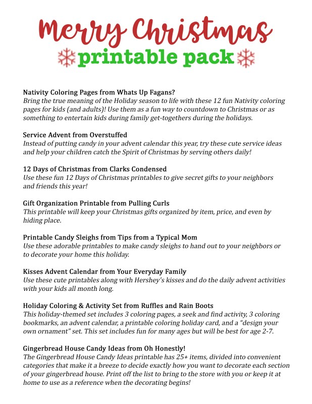 merry christmas printable pack for families tips from a typical mom