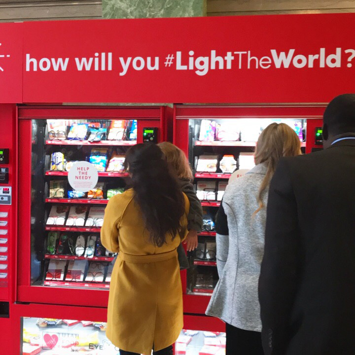 #LightTheWorld Charity Vending Machines