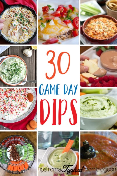 Football Game Day Party Dips