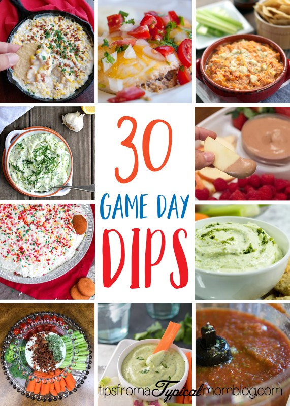 30 Game Day Dips for Parties