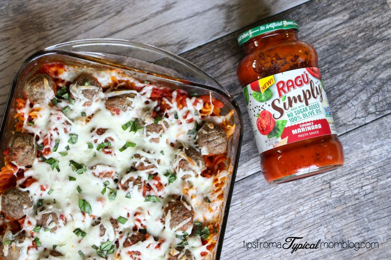 Busy Weeknight Meatball Pasta Bake