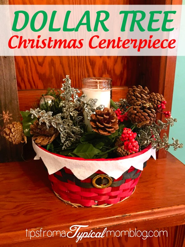 Dollar Tree Christmas Centerpiece