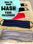 How to Hand Wash Your Facemasks