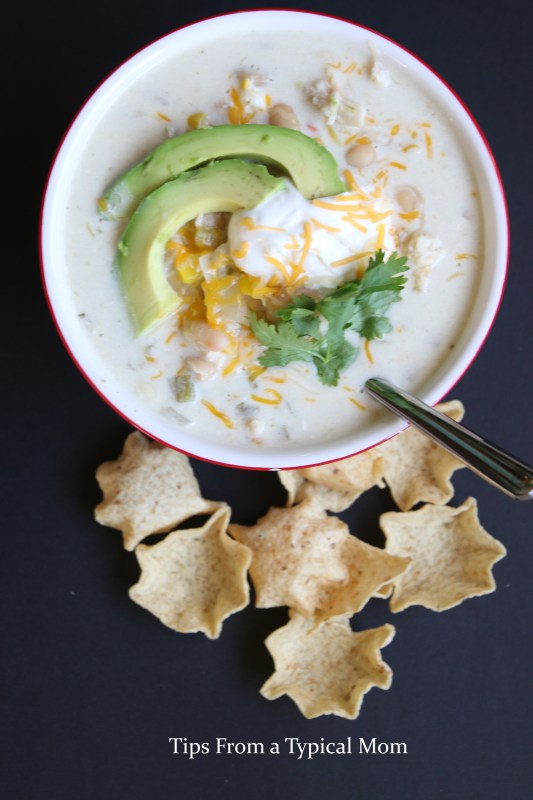 Crock Pot Slow Cooker White Chicken Chili Easy