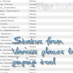 Check your site from various location by ping tool