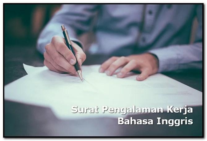 surat pengalaman kerja bahasa inggris