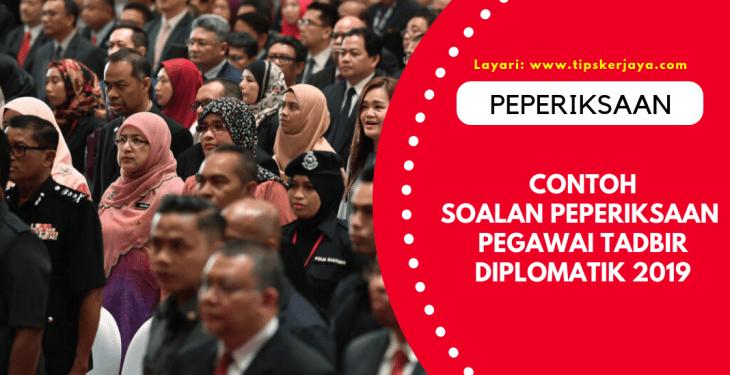 pegawai tadbir diplomatik 2019