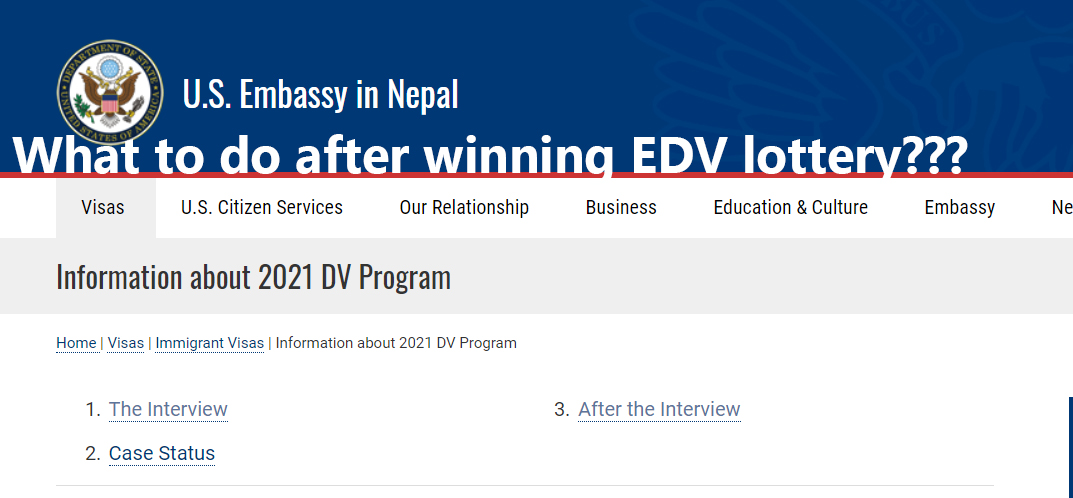 What to do after winning the EDV lottery?
