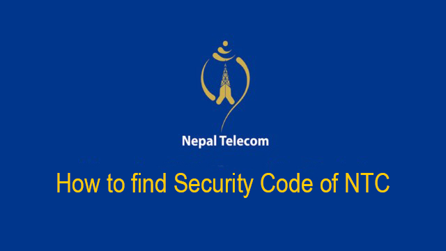 How To Find Security Code In NTC In 2 Easy Steps!