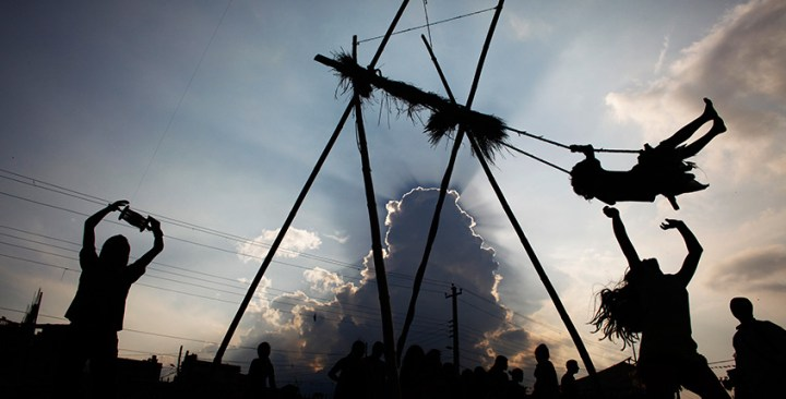 Silhoutte of Dashain Wishes and Quotes