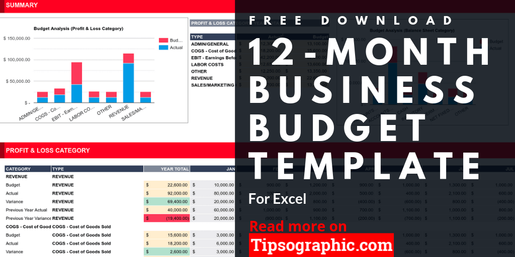 Therefore, it's essential for having a plan for its management. 12 Month Business Budget Template For Excel Free Download Free Download