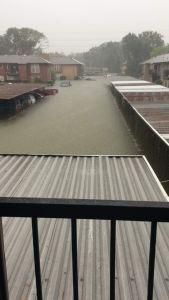 estacionaiento huracan harvey