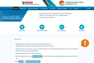 Petunjuk Cara Pendaftaran Lowongan CPNS Kota Banjarmasin lulusan SMA SMK D3 S1 tahun 2018.