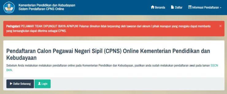 Daftar Nama Lulus Seleksi Administrasi CPNS Kementerian Pendidikan Kebudayaan 2017