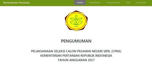Pengumuman Hasil Tes CAT SKD Seleksi Kompetensi Dasar Kementerian Pertanian
