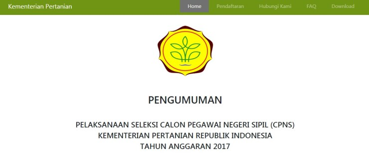 Petunjuk Cara Daftar CPNS KEMENTAN 2018 Lulusan SMA D3 S1, Panduan Alur Pendaftaran CPNS KEMENTAN Kementerian Pertanian 2018.