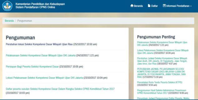 Lokasi dan Jadwal Tes SKD CPNS KEMDIKBUD Wilayah Ujian Jakarta