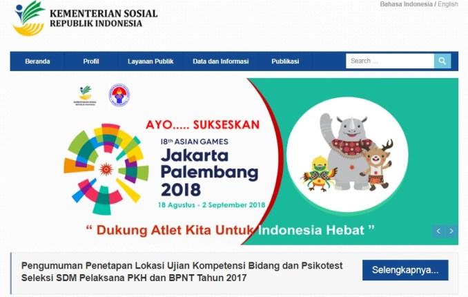 Pengumuman Hasil SKB Seleksi Kompetensi Bidang SDM PKH BNPT Kemensos Kementerian Sosial tahun 2017