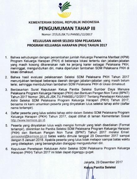 Contoh Soal Ujian SKB Psikotes Pendamping SDM PKH Kementerian Sosial Tes Kompetensi Bidang TKB Seleksi SDM PKH 2019