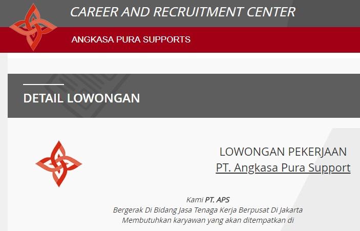Penerimaan Pegawai Lowongan Kerja Loker PT Angkasa Pura Support 2018, Loker PT Angkasa Pura Support terbaru Lulusan D3 dan S1 semua jurusan.