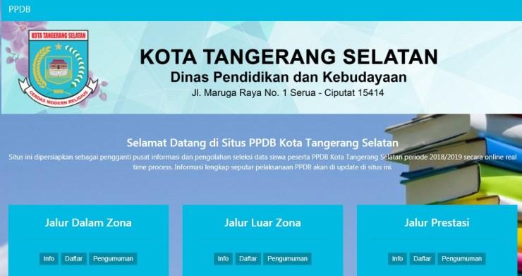Pengumuman Hasil Seleksi PPDB SMP Online Kota Tangerang Selatan BANTEN 2018/2019, Hasil PPDB Online Jenjang SMP di Kota Tangerang Selatan.