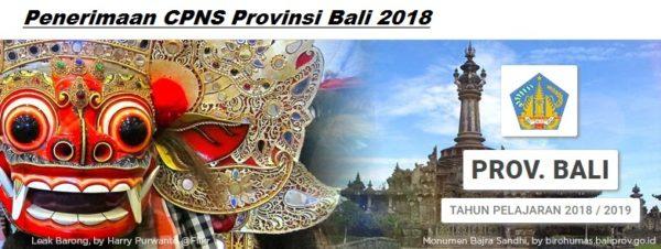 Pengumuman Hasil Tes CAT SKD CPNS Provinsi BALI 2018 Seleksi Kompentensi Dasar.
