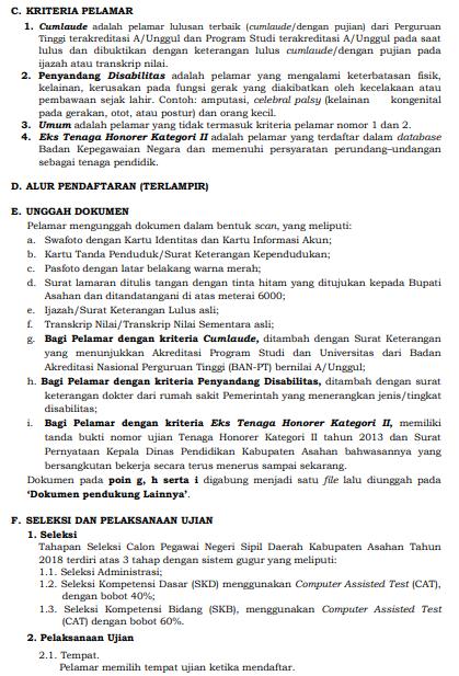 Bagaimana Cara Pendaftaran Lowongan CPNS Kabupaten Asahan SUMUT 2018 SMA SMK D3 S1.