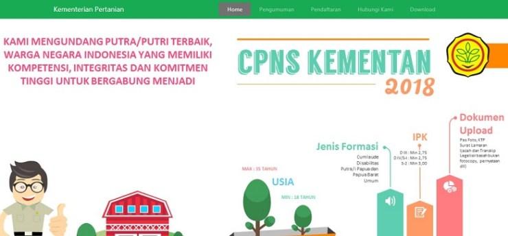 Pengumuman Hasil Seleksi Administrasi CPNS KEMENTAN 2018 Peserta Lulus SSCN