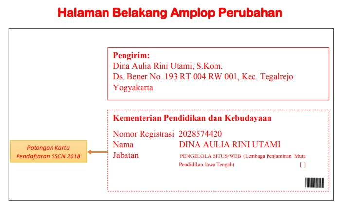Alamat Po Box Pengiriman Berkas Persyaratan Pendaftaran CPNS Kemendikbud 2018