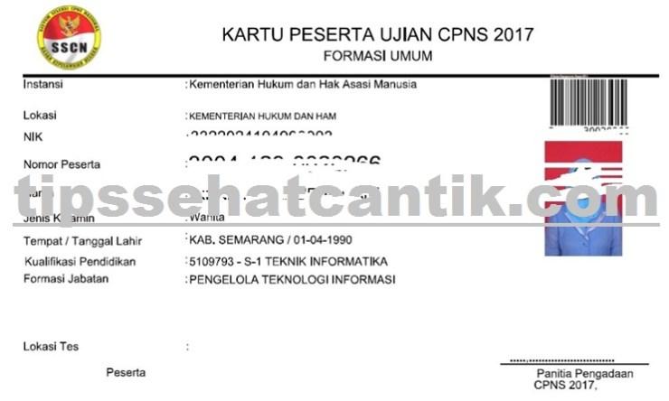 Petunjuk Cara Mencetak Kartu Tanda Peserta Ujian CPNS 2018 Semua Instransi