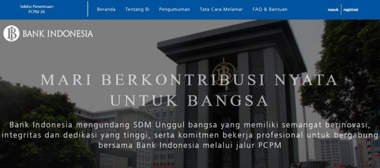 Pengumuman Rekrutmen Pegawai BI Bank Indonesia 2019, Penerimaan Pegawai Baru BI Bank Indonesia terbaru.