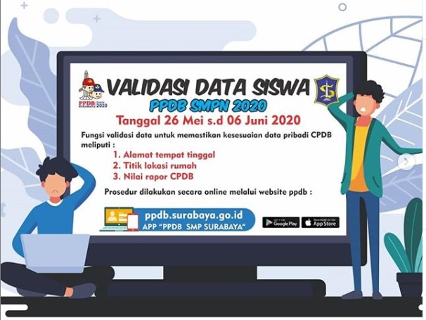 Daftar Nama Yang Lulus seleksi PPDB SMP Negeri Kota Surabaya 2020 2021