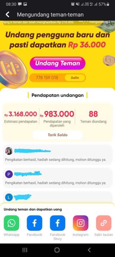 8 Aplikasi Andorid Penghasil Uang Yang Terbukti Membayar dan Mudah Penarikan Saldonya