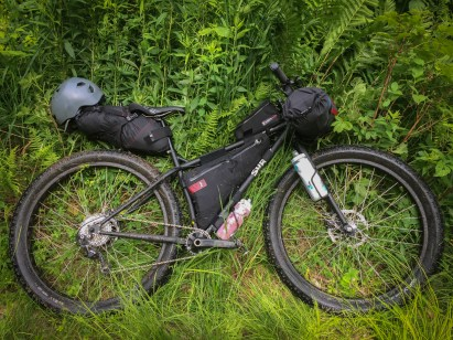My Surly Krampus Ops complete with Revelate Designs bags and a few DIY mods to fit additional water bottles. A perfect platform for bikepacking.