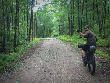 Perfect, remote Vermont gravel characterized the ride along Silver Lake Road. Whether it was the rain that had settled in, or the debris covering much of the trails from the storm the night before, it was nice to have miles of riding to ourselves.