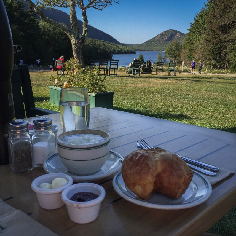 More popovers at the Jordan Pond House!!! The perfect pre-, mid-, and post-ride treat!