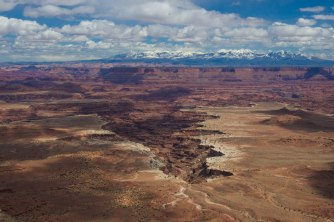 Buck Canyon and the aptly named White Rim as seen from the top of the plateau.