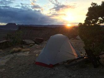 Sunset on Day 1 at Murphy Hogback Camp A