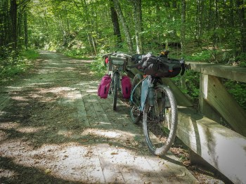 Rail trail in Groton State Forest