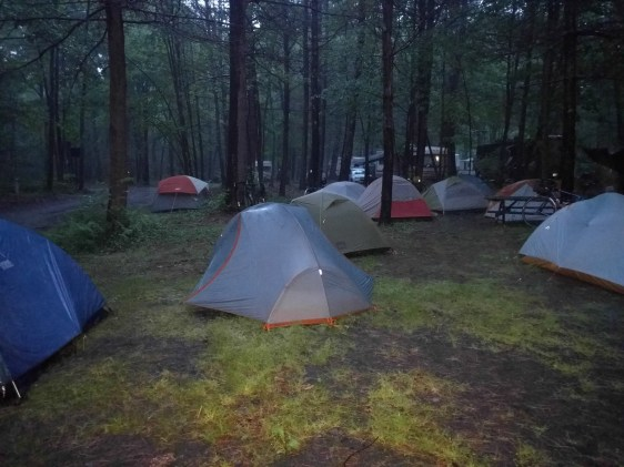 Dark, dreary and damp camp (Photo: Adam)