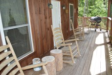covered porch and rockers