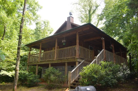 romantic cabin rental in townsend