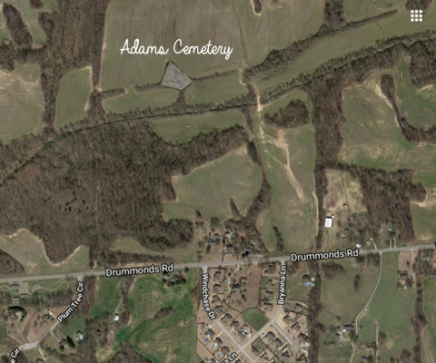 Adams Cemetery Tipton County Tennessee