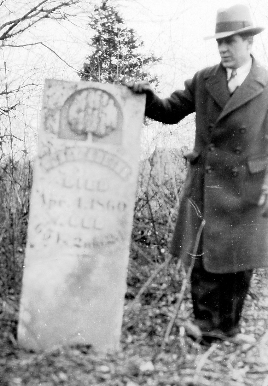 Adkins Family Graveyard Mumford, TN 27 Feb, 1927 in Picture Charlie Adkins